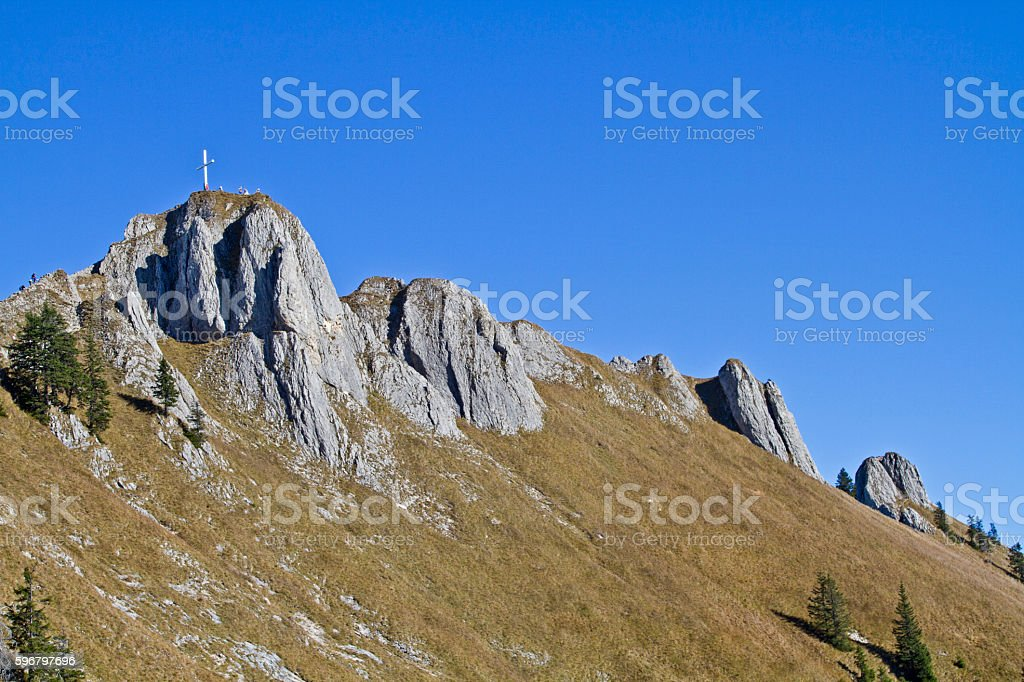 Tegelberg in Allgaeu Alps stock photo