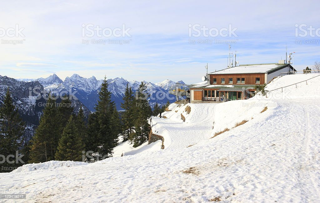 Tegelberg-mountain in Winter. royalty-free stock photo