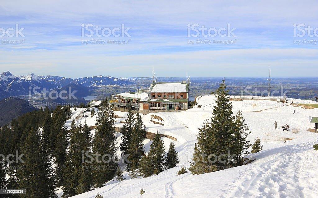Tegelberg-mountain in Winter. royalty-free stock photo