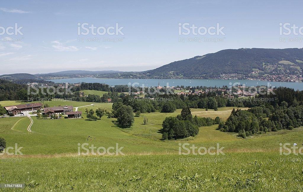 Tegernsee in Bavaria stock photo