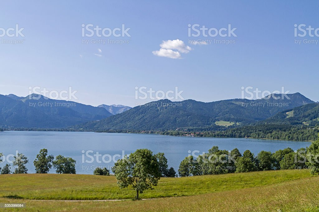 Tegernsee in Upper Bavaria stock photo