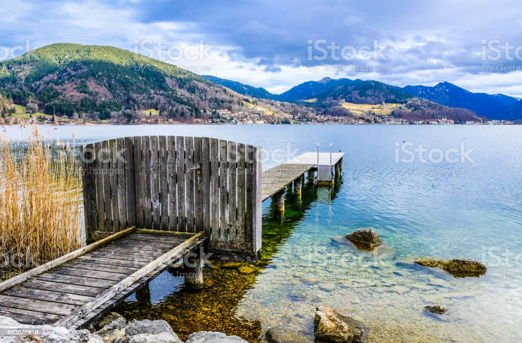 tegernsee lake stock photo