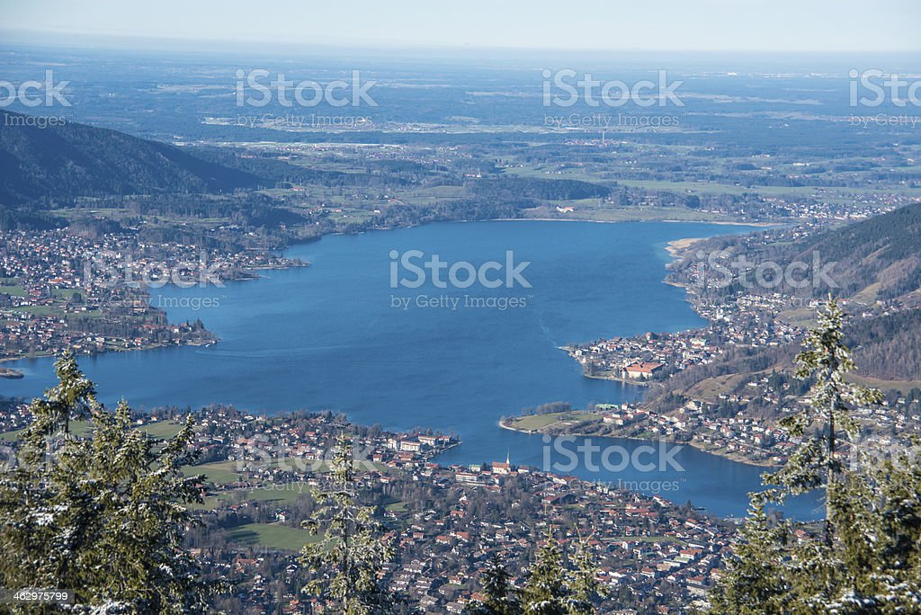 Tegernsee view from above hdr stock photo