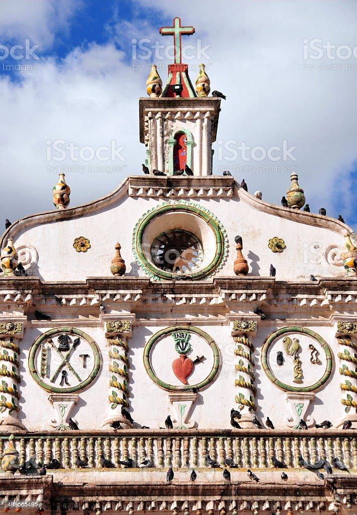 Tegucigalpa, Honduras: Dolores church detail royalty-free stock photo