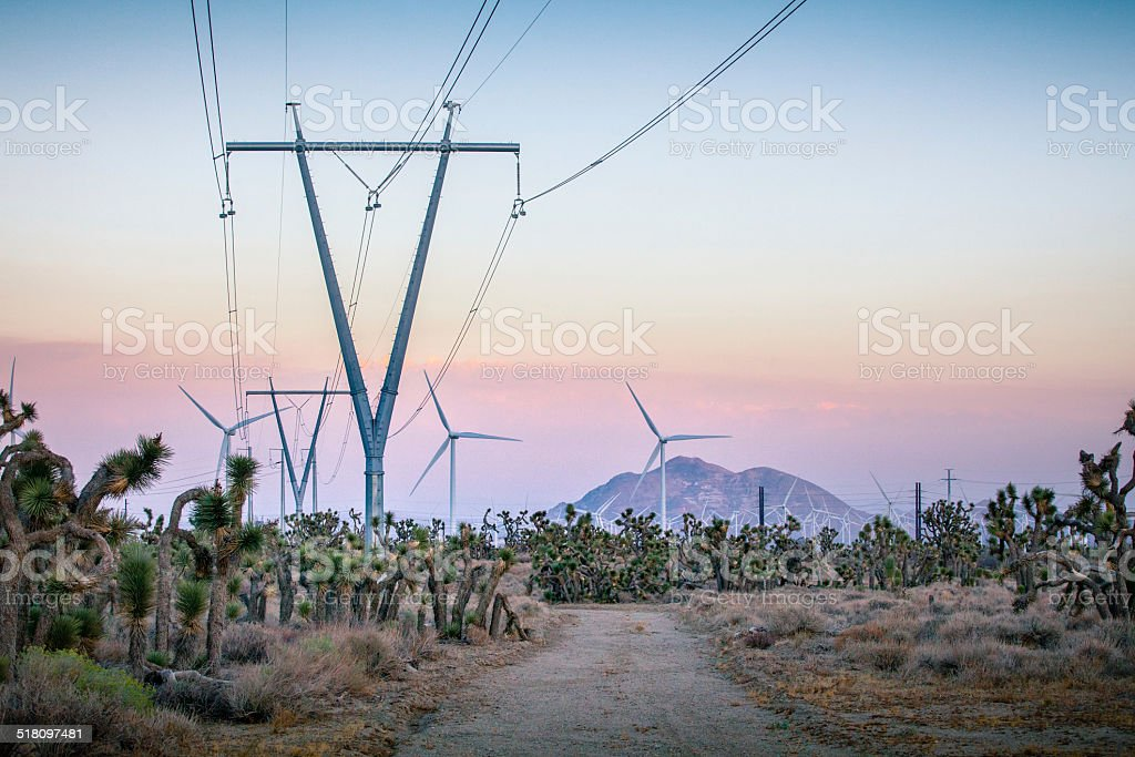 Tehachapi Pass Wind Farm royalty-free stock photo