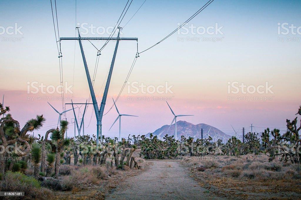 Tehachapi Pass Wind Farm stock photo