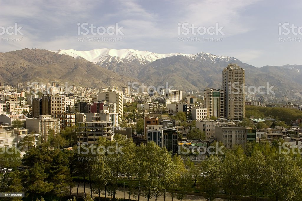 Teheran City stock photo