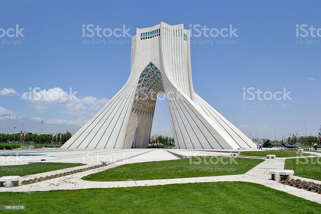 Tehran, Azadi monument stock photo