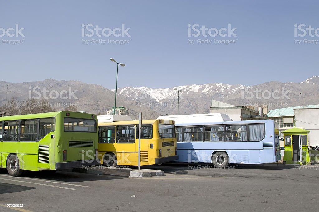 Tehran bus station stock photo