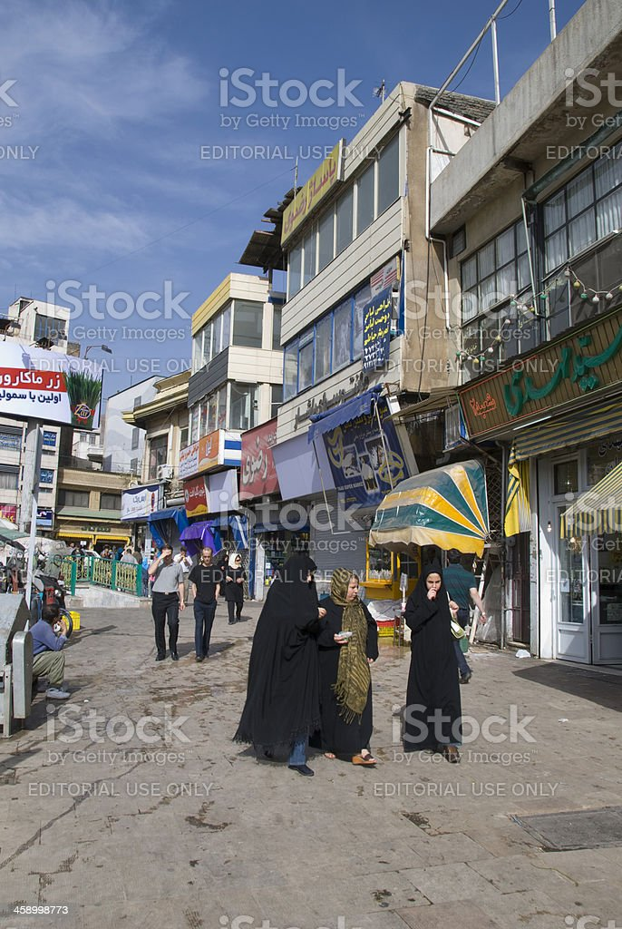 Tehran Downtown stock photo