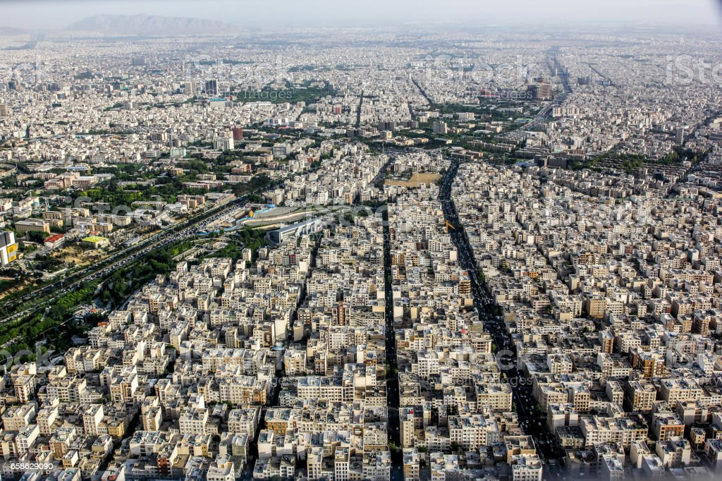 Tehran from above stock photo