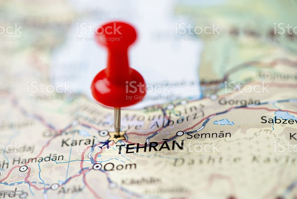 Tehran map royalty-free stock photo