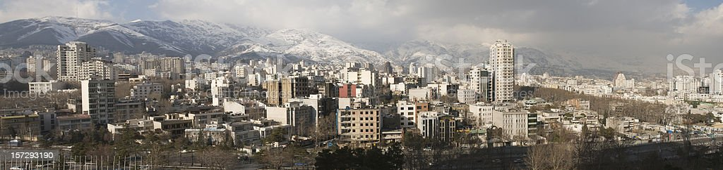 Tehran Panorama of Teheran stock photo