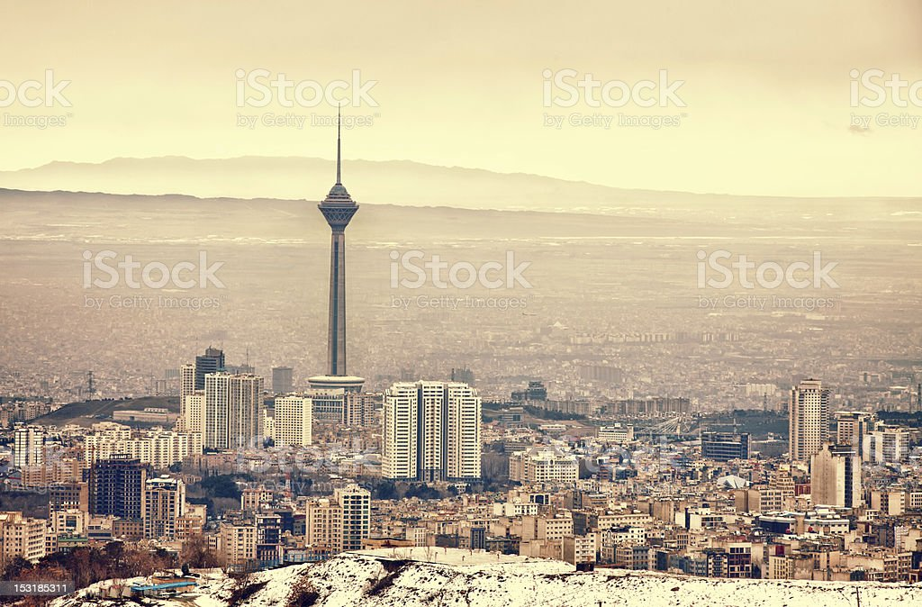 Tehran Skyline stock photo