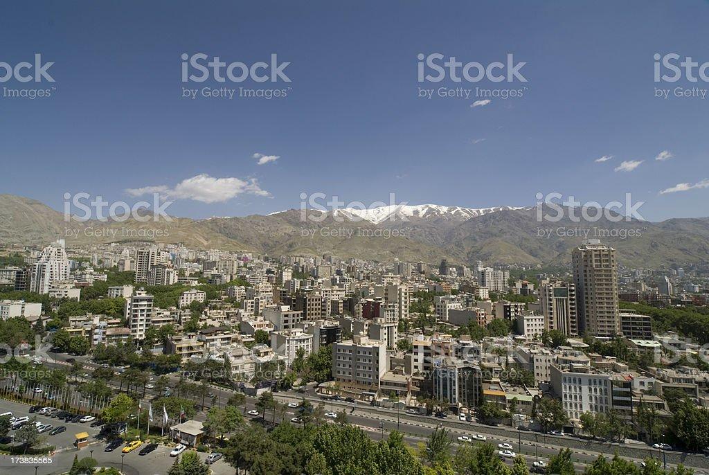Tehran Wide City View stock photo
