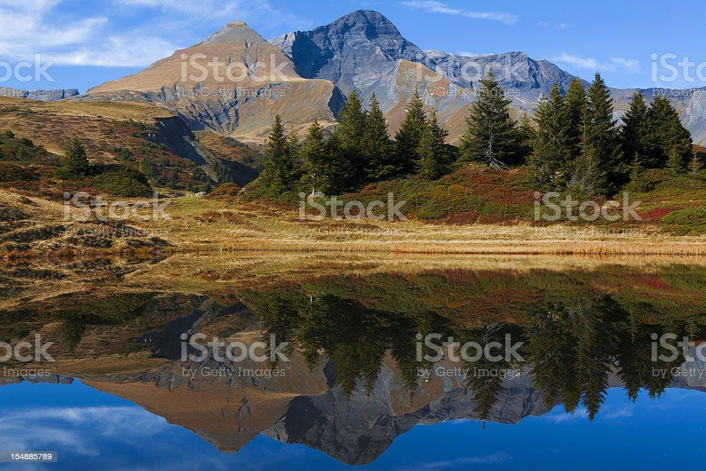 Teich mit Schwarzhorn und Gemschiberg royalty-free stock photo