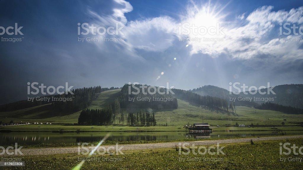 Teichalmsee Teichalm Steiermark ?sterreich stock photo