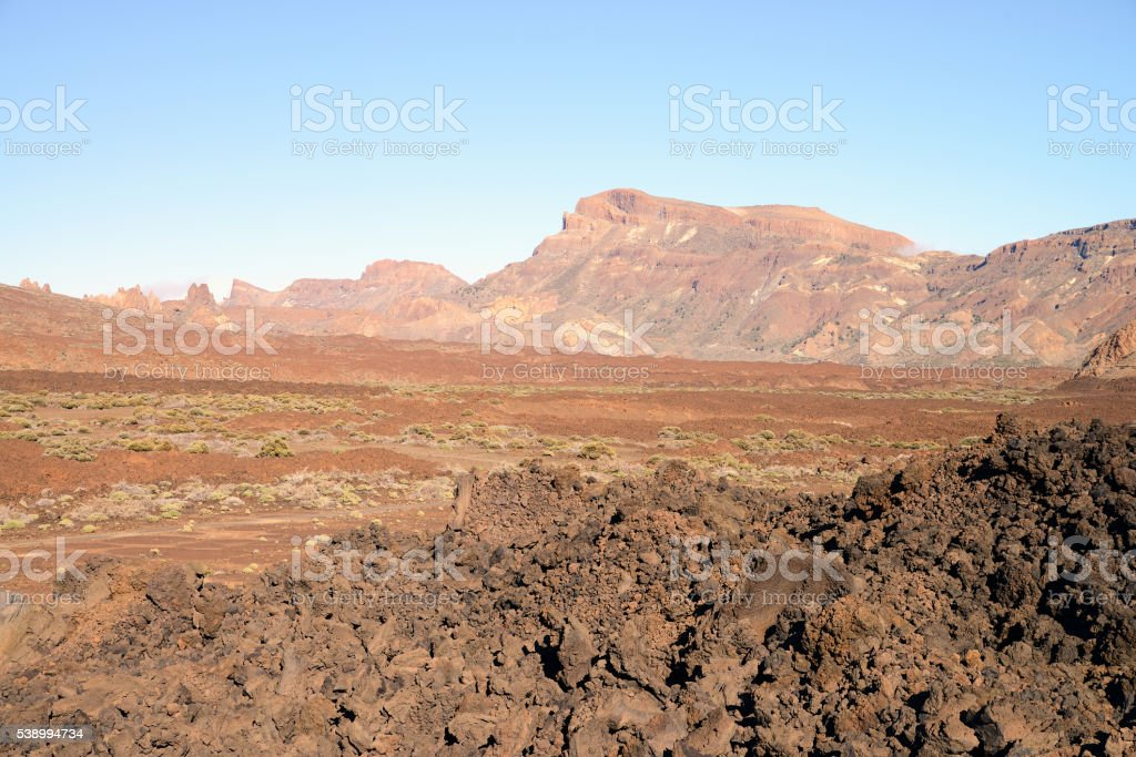 Parque Nacional del Teide at sunset, Tenerife, Canary Islands, Spain stock photo