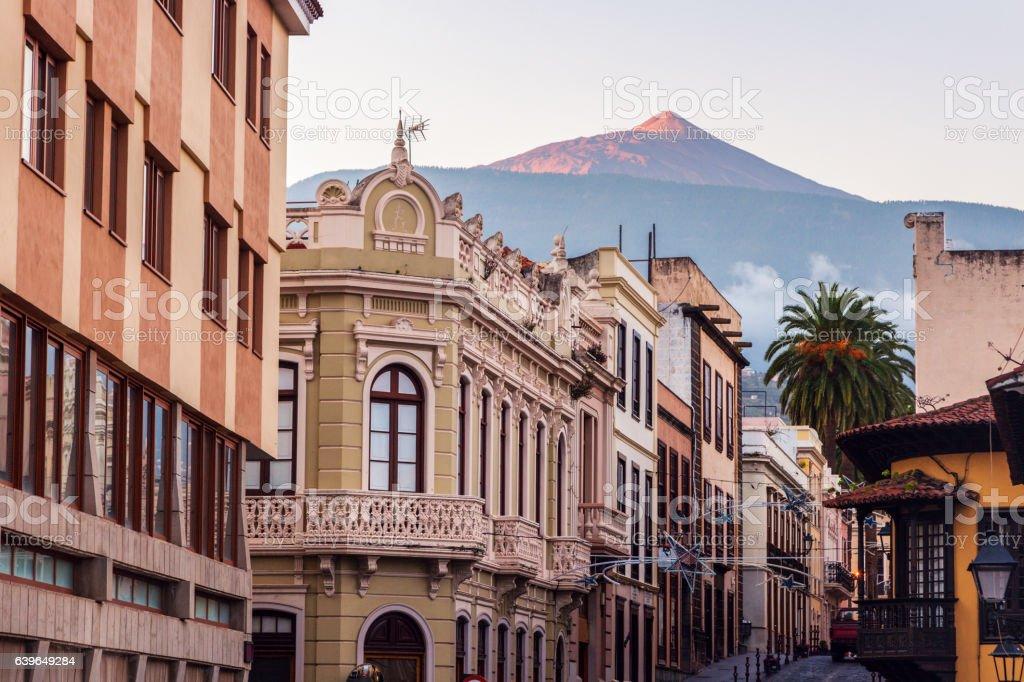 Teide seen from La Orotava stock photo