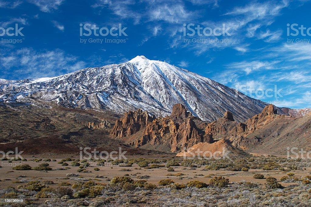 Teide volcano from far stock photo