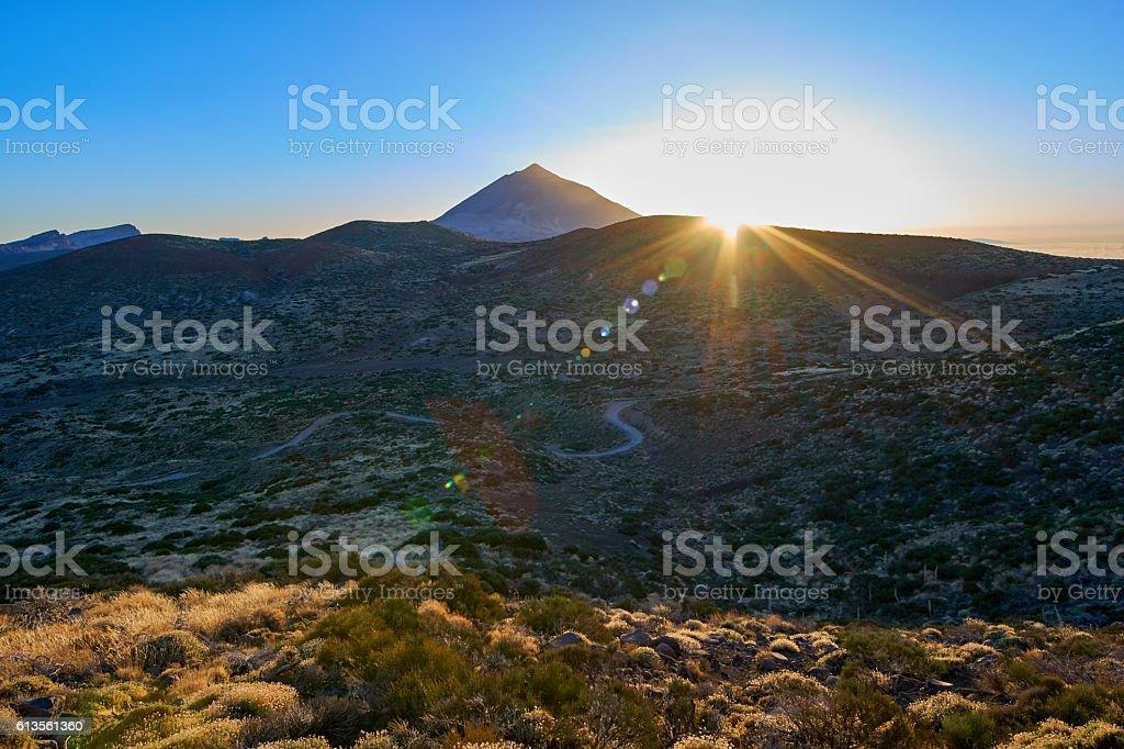 Teide's twilight stock photo