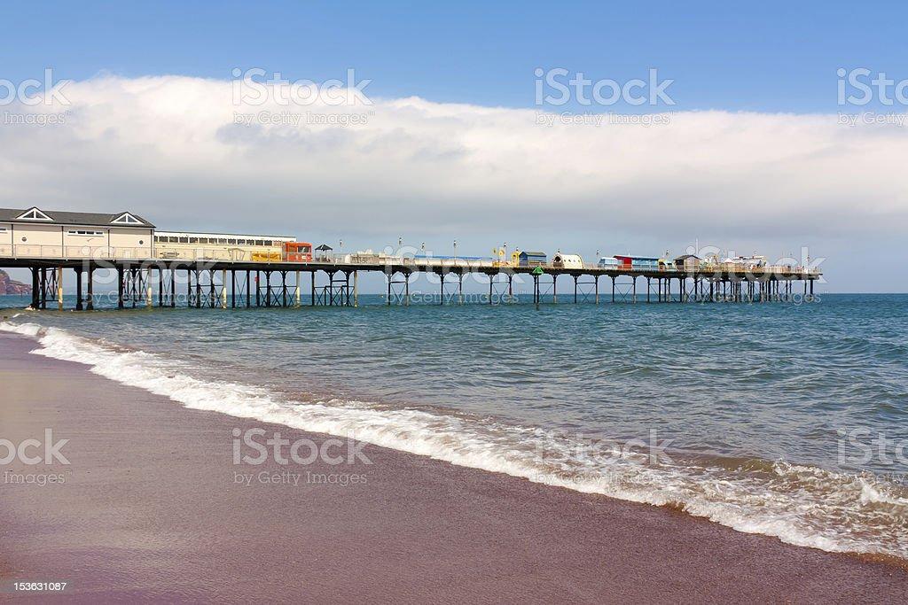 La jetée de Teignmouth photo libre de droits
