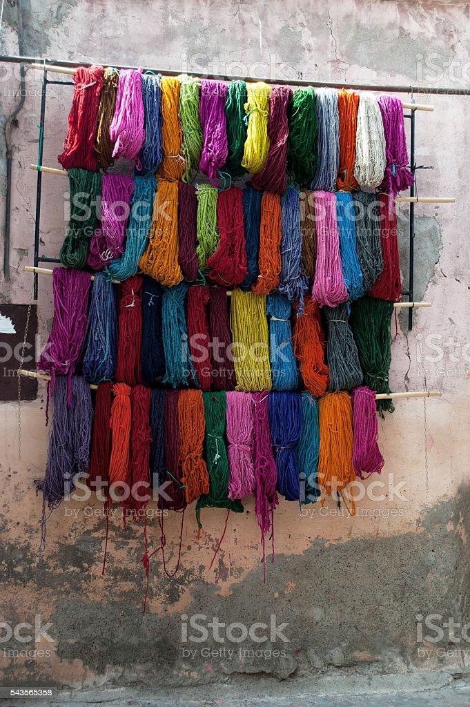 teinture marocaine stock photo