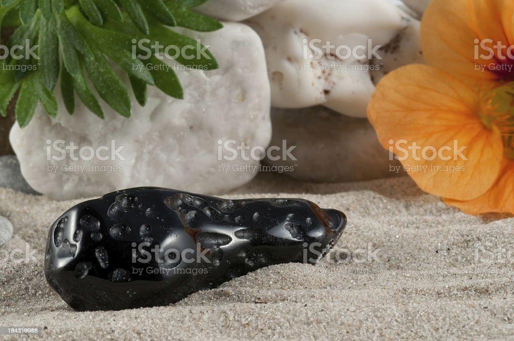 Tektite - half precious stone. guaranteed authentic stock photo