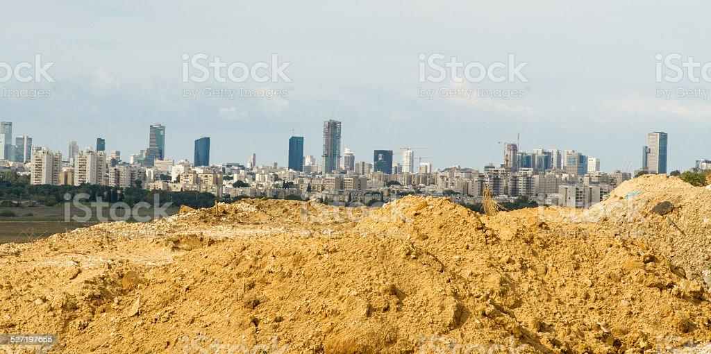 Tel Aviv and  Ramat Gan. stock photo
