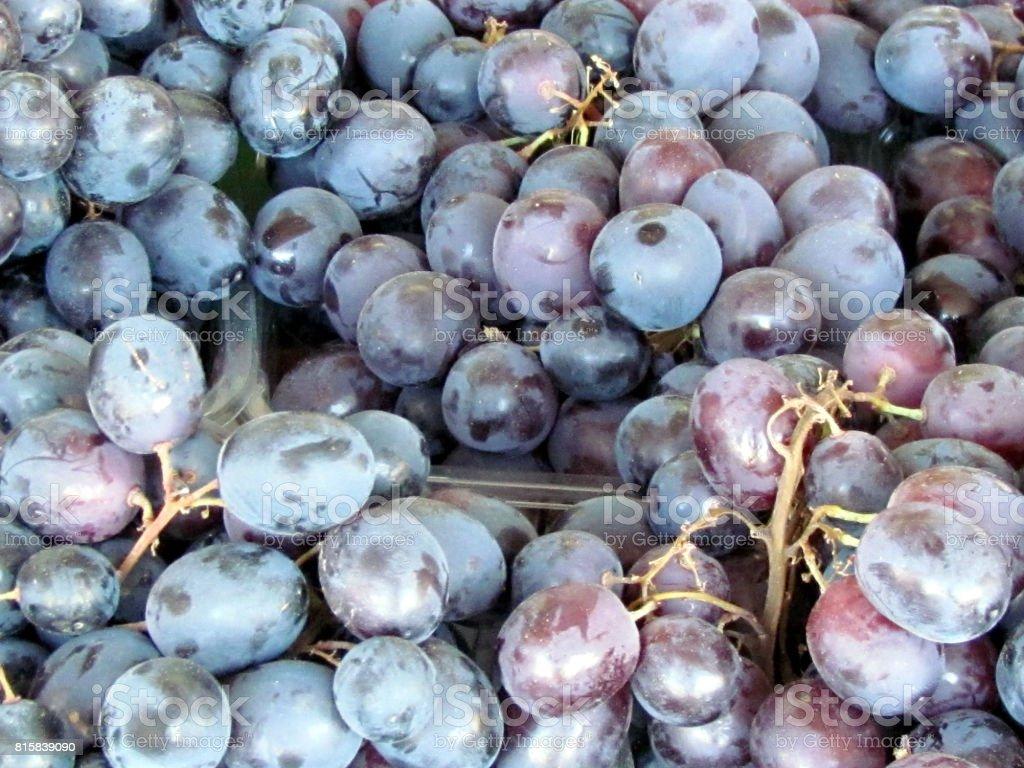 Tel Aviv grapes on bazaar 2012 stock photo