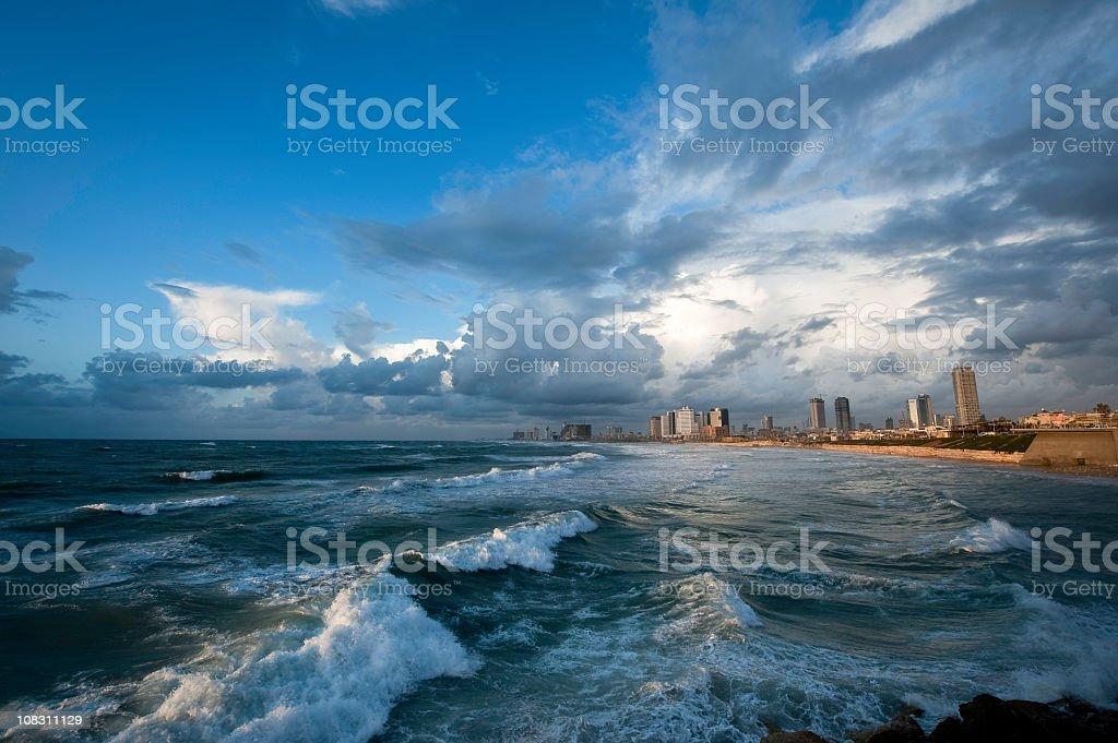 Tel Aviv in Storm royalty-free stock photo