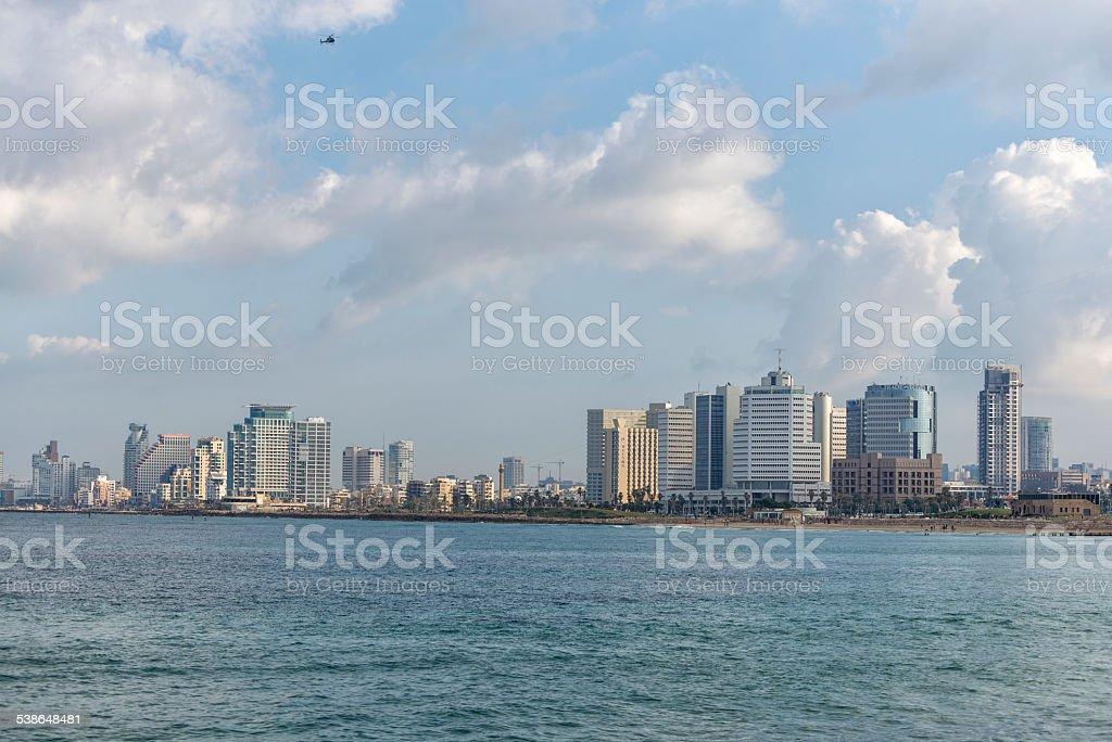 Tel Aviv in winter season royalty-free stock photo