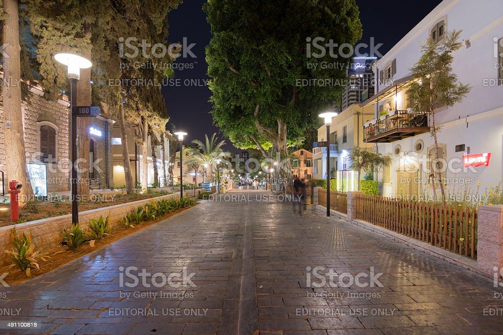 Tel Aviv Night Life stock photo
