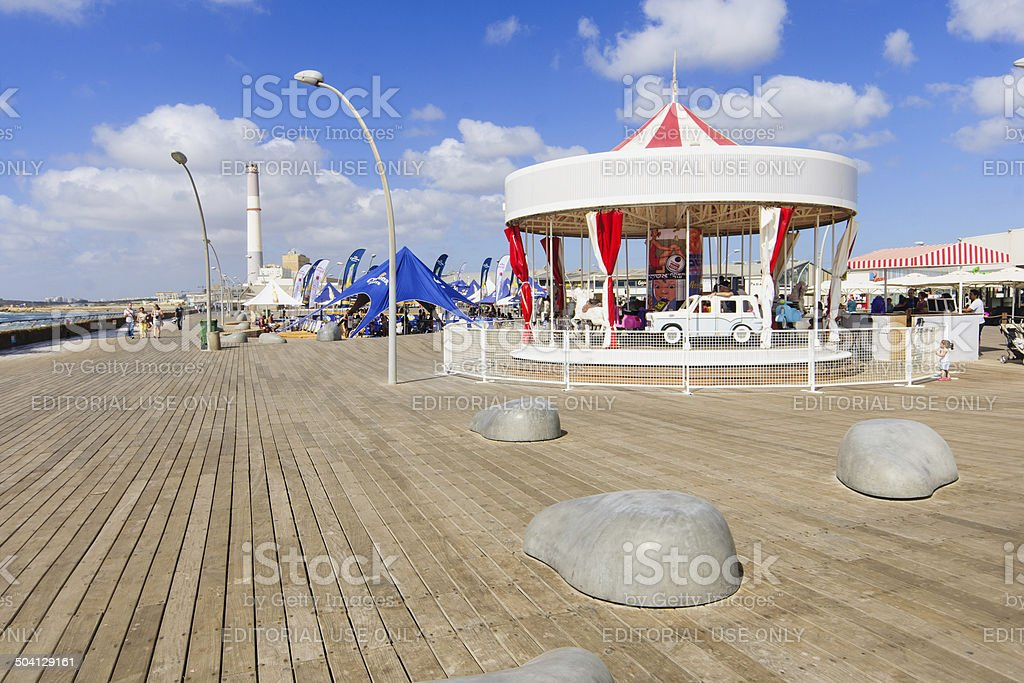 Tel Aviv Port royalty-free stock photo