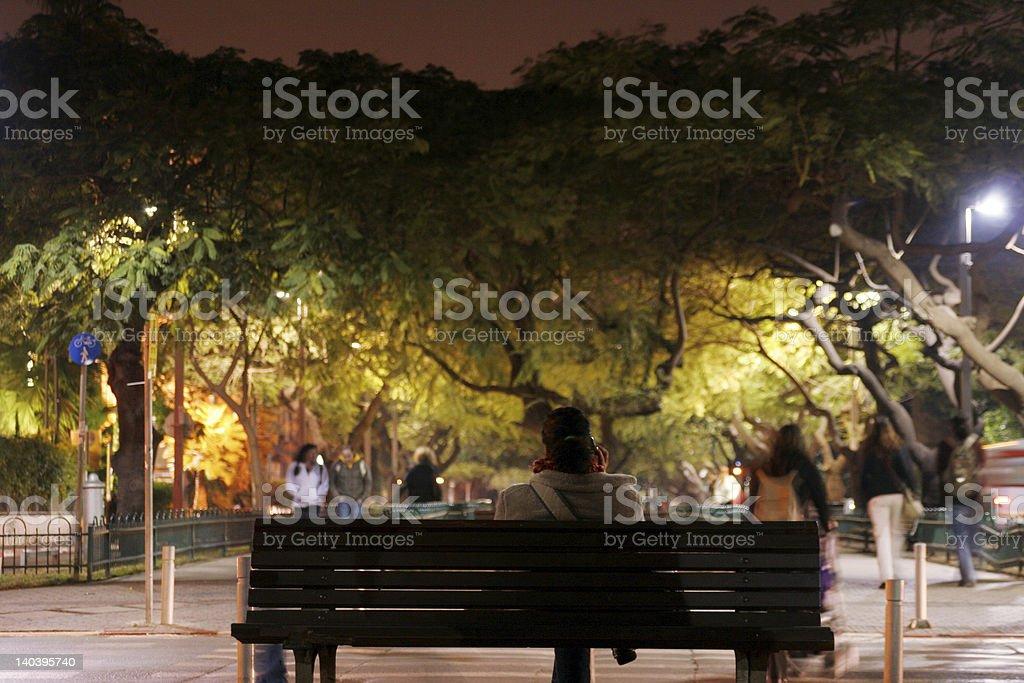 Tel Aviv, Rothschild Avenue royalty-free stock photo