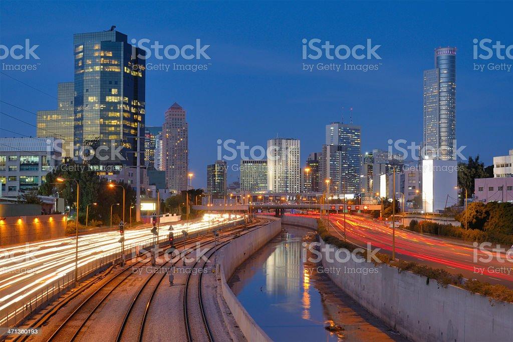 Tel Aviv Skyline stock photo