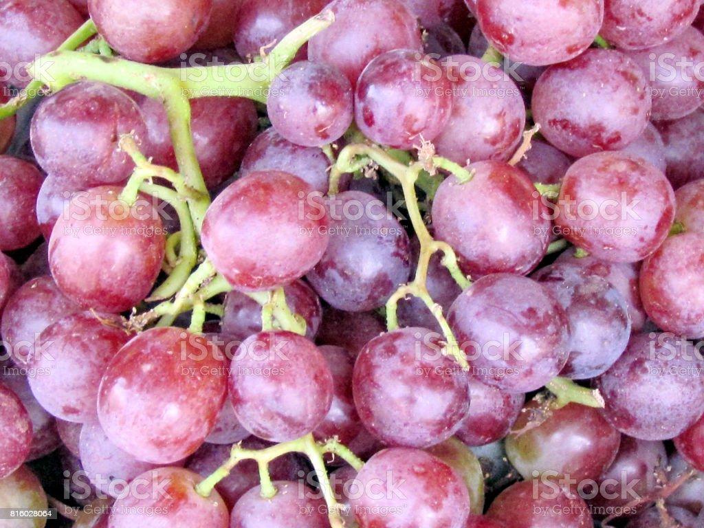Tel Aviv sweet grapes on bazaar 2012 stock photo
