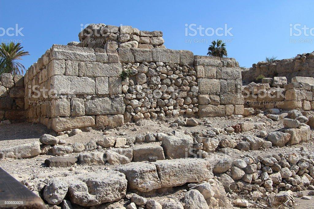 Tel Megiddo Ruins stock photo