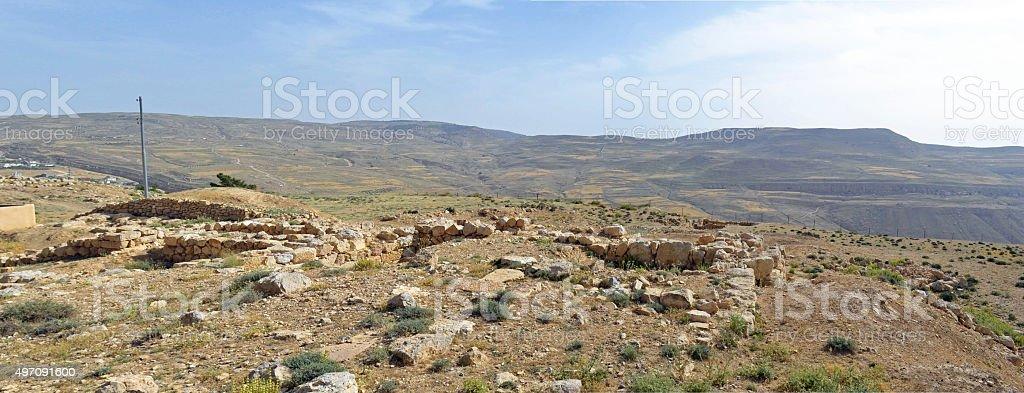 Tel of Bozrah stock photo