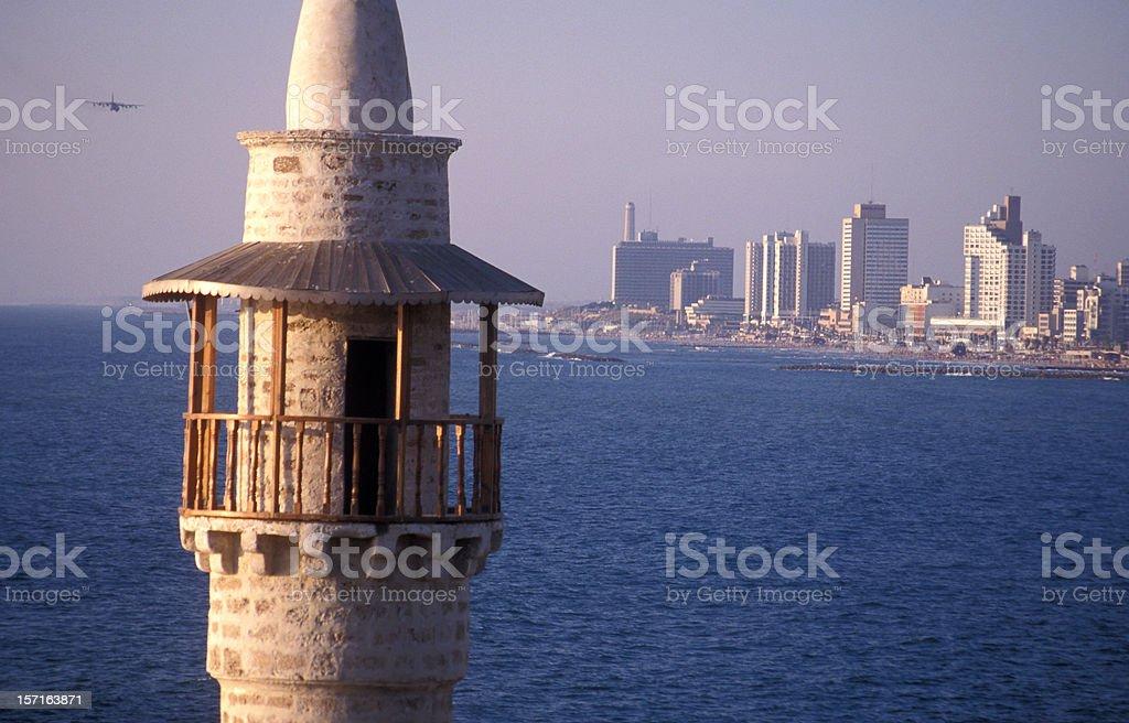 Tel-Aviv coastline Israel royalty-free stock photo