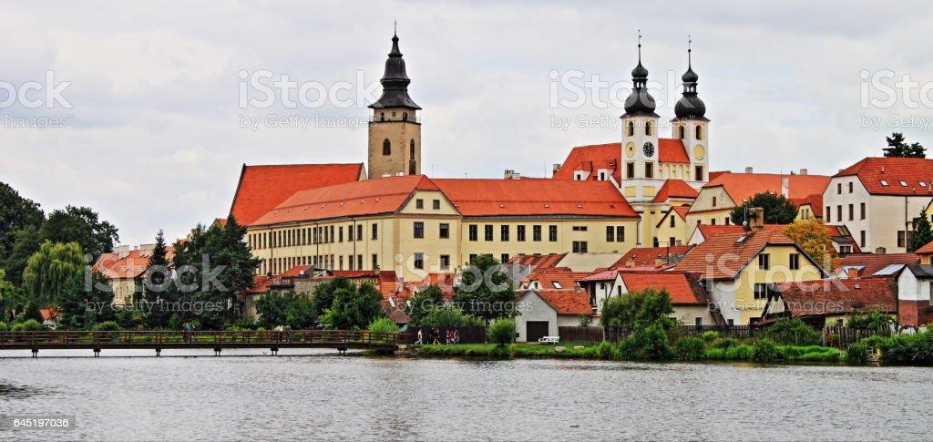 Telc in Moravia stock photo