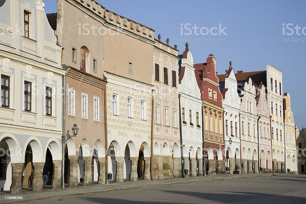 Telc - UNESCO heritage royalty-free stock photo