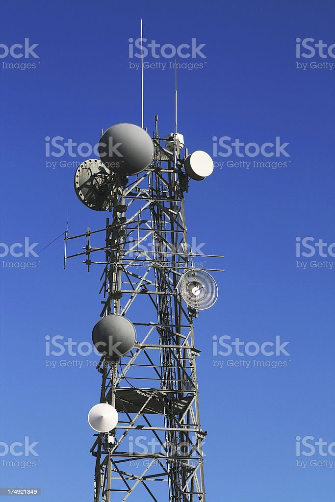 Tele Communication Tower against blue sky royalty-free stock photo