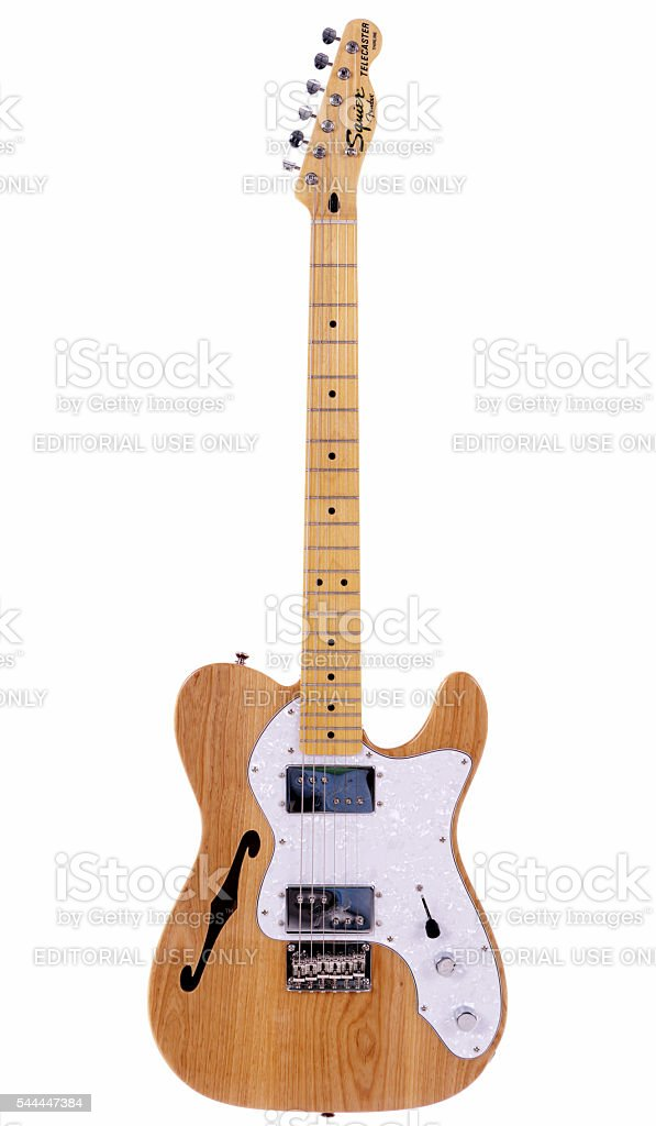 Telecaster Thinline electric guitar from Squier's Vintage Modified series stock photo