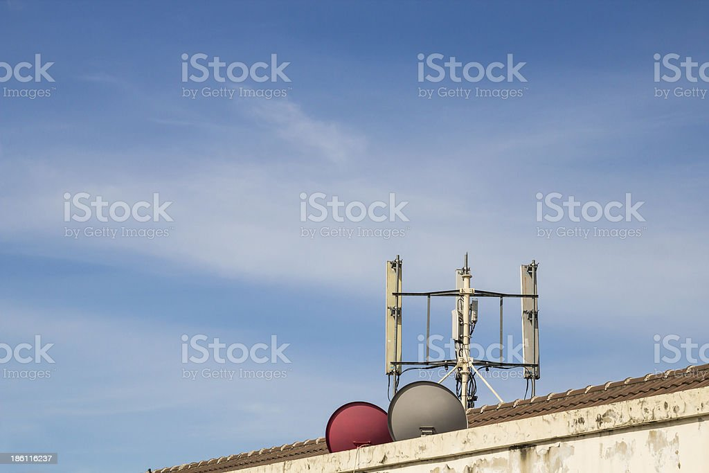 Telecom Pole royalty-free stock photo