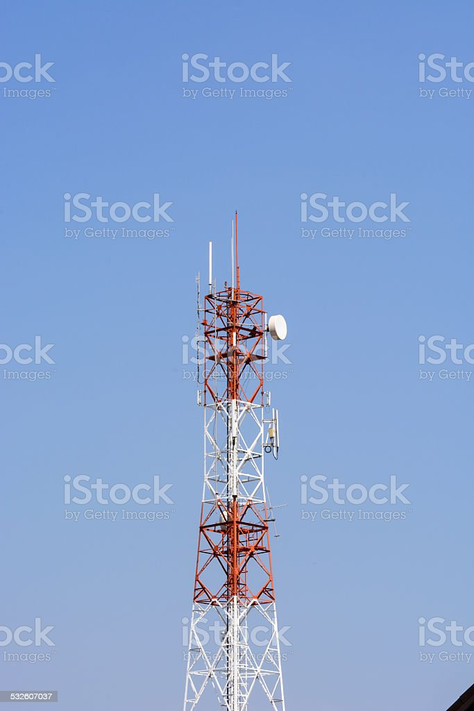 Telecom pole stock photo
