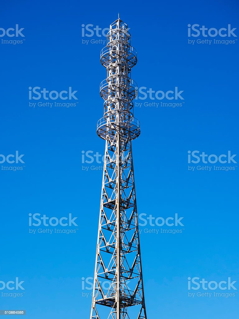 Telecom station Antenna tower Information Provider Communication stock photo
