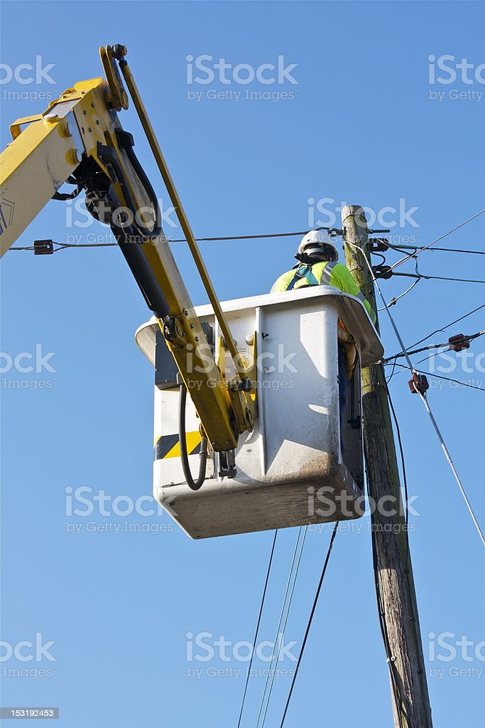Telecom/Electrical Engineer stock photo