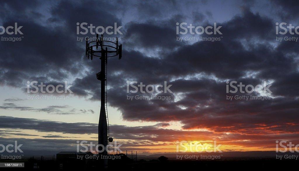 Telecommunication Dawn royalty-free stock photo