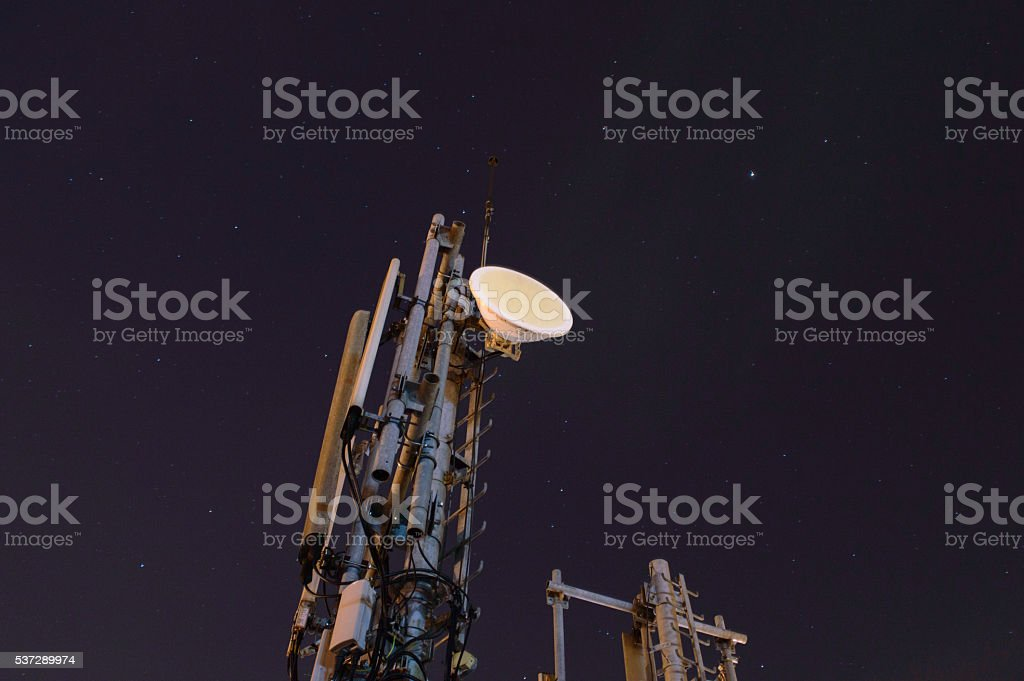 Telecommunication dish stock photo